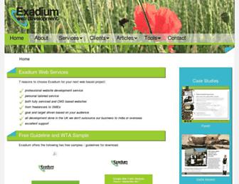 exadium.com screenshot