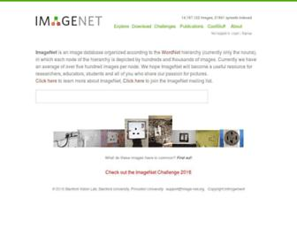 image-net.org screenshot