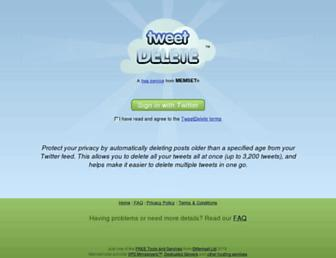 Thumbshot of Tweetdelete.net