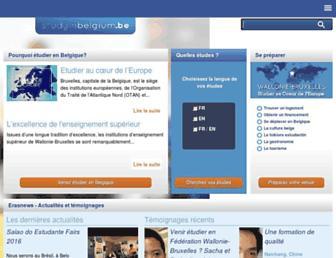 studyinbelgium.be screenshot