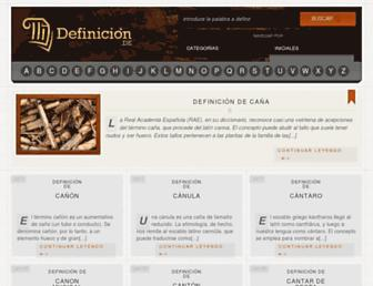 definicion.de screenshot