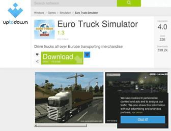 euro-truck-simulator.en.uptodown.com screenshot