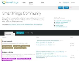 community.smartthings.com screenshot