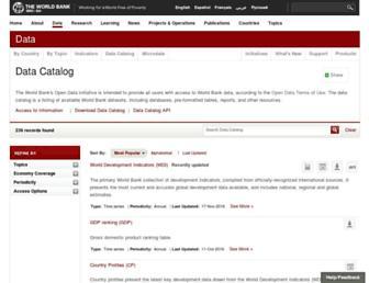 datacatalog.worldbank.org screenshot