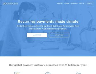 gocardless.com screenshot