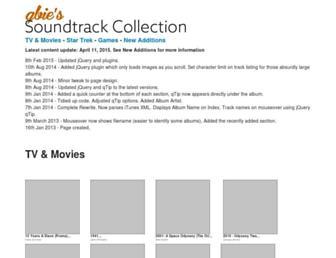 soundtracks.qbie.com screenshot
