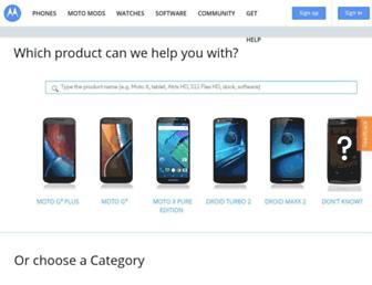motorola-global-portal.custhelp.com screenshot