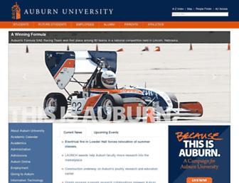 Main page screenshot of auburn.edu
