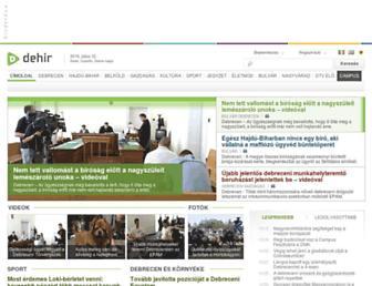 Main page screenshot of dehir.hu