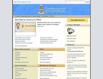 gov.ky screenshot