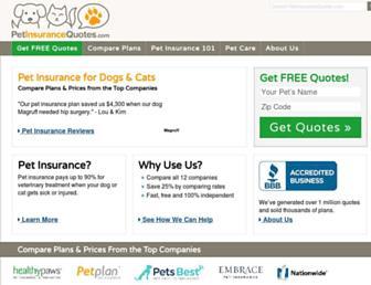 petinsurancequotes.com screenshot