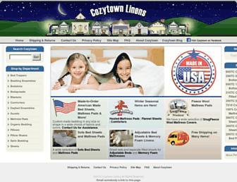 cozytownlinens.com screenshot