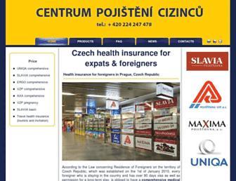 pojisteni-cizincu.cz screenshot