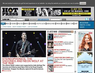 hotpress.com screenshot