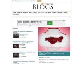 Main page screenshot of blogs.tribune.com.pk