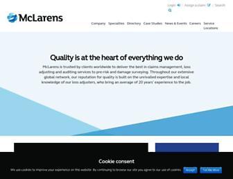 mclarens.com screenshot