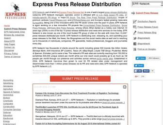 Main page screenshot of express-press-release.net