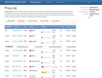 proxyservers.pro screenshot