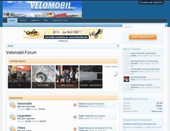 Main page screenshot of liegeradforum.de