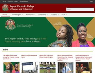 Main page screenshot of regentghana.net