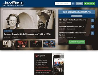 jambase.com screenshot