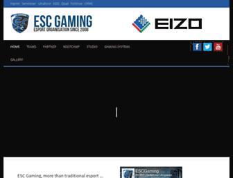 Main page screenshot of escgaming.de