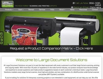 largeformatscanners.com screenshot