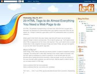 blog.lo-fi.net screenshot