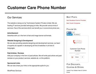 customercarephonenumber.in screenshot