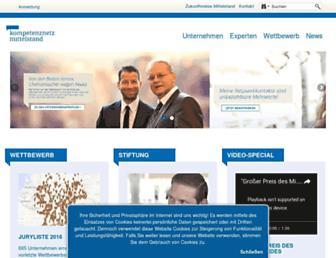 kompetenznetz-mittelstand.de screenshot
