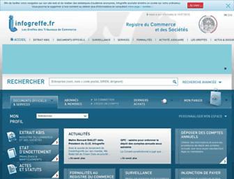 infogreffe.fr screenshot