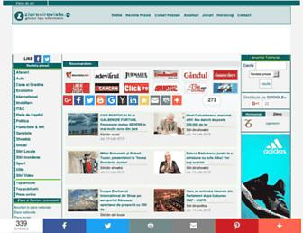 Main page screenshot of ziaresireviste.ro