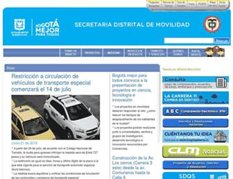 Thumbshot of Movilidadbogota.gov.co