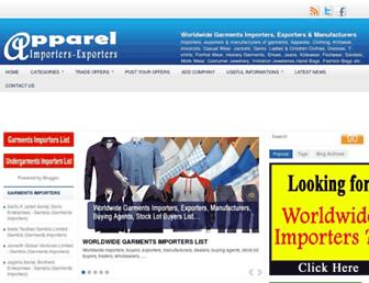 apparel-importers-exporters.blogspot.com screenshot