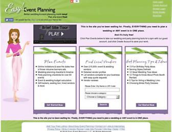 easyeventplanning.com screenshot