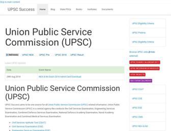 upscsuccess.com screenshot