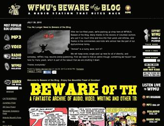 blog.wfmu.org screenshot