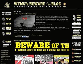 Main page screenshot of blog.wfmu.org