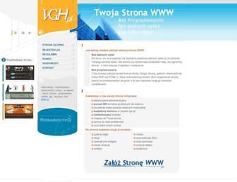Main page screenshot of dbv.pl