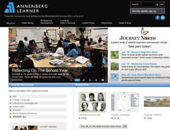 Main page screenshot of learner.org