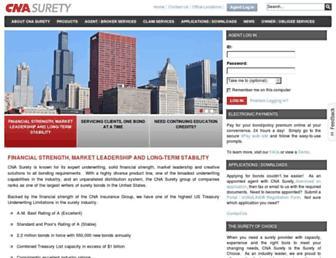 cnasurety.com screenshot