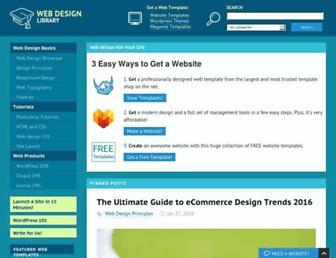 Main page screenshot of webdesign.org