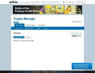 trophymanager.wikia.com screenshot