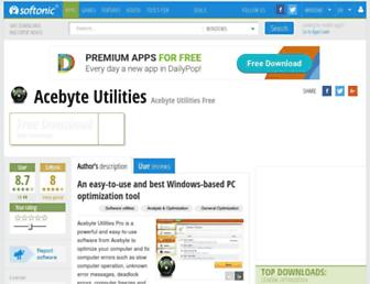 acebyte-utilities.en.softonic.com screenshot