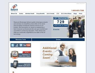 resourcebrokerage.com screenshot