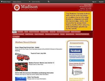 madisonpublicschools.org screenshot