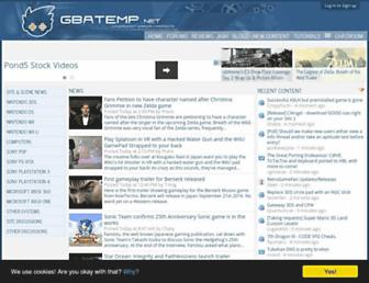 Main page screenshot of gbatemp.net