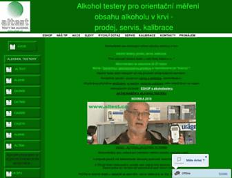 Main page screenshot of altest.cz
