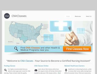 Main page screenshot of cnaclasses.org