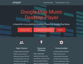 googleplaymusicdesktopplayer.com screenshot